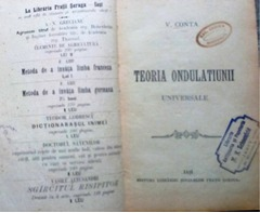 Teoria Ondulatiunii Universale, V. Conta