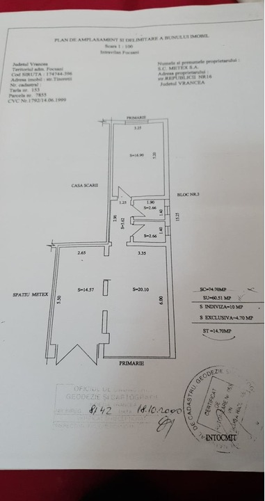 Direct proprietar!vand spatiu comercial din constructie central strada in bld.unirii 75 mp