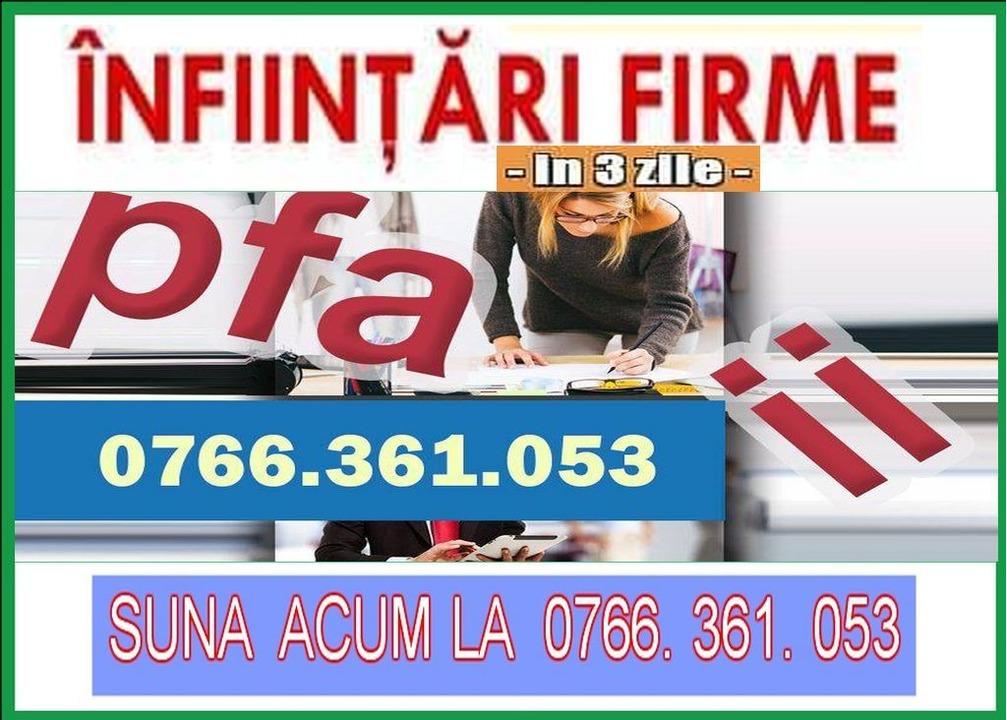 INFIINTARE FIRMA RAPID - Craiova, Filiasi, Calafat, Bailesti, Dabuleni