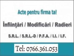 Intocmire acte Registrul Comertului Dolj - SRL / PFA / II