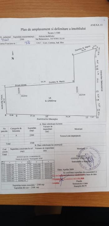 Teren intravilan Cernica Balaceanca