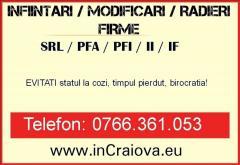 INFIINTARI/RADIERI/MODIFICARI FIRME