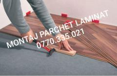 MONTAJ PARCHET LAMINAT - 13 ron/mp inclus plintă.