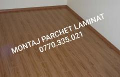 MONTAJ PARCHET LAMINAT - 13 ron/mp inclus plintă.