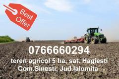 Teren Agricol 5ha Hagiesti, Jud.Ialomita