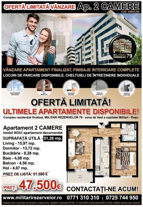 Apartament 2 camere, decom, 51mp, Chiajna Militar