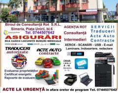Traduceri Asigurari Acte Auto Simeria Agentia Rot Contracte