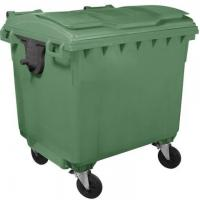Containere HDPE CLE 1100L cu capac rotund, tomberoane colectare gunoi