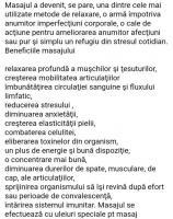 Masaj Relaxare, Terapeutic, Anticelulic, Drenaj Limfatic și Kinetoterapie în afecțiuni fizice