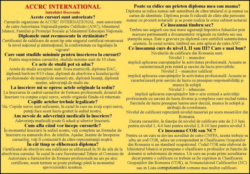 Urmeaza-ti visul alaturi de noi ! www.accrcinternational.com