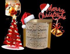 carti sculptate personalizate cu orice mesaj text. cadou original Craciun