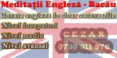 Meditatii limba Engleza - Bacau - Central