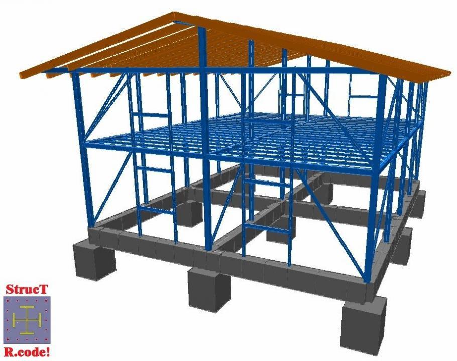 Proiectare case pe structura metalica