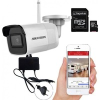 Camera bullet IP Wireless Hikvision DS-2CD2041G1-IDW1 4MP, 2.8mm, microfon, slot card, IR 30m, IP66