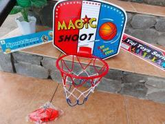 Set cos de baschet pentru copii, cos plasa și minge