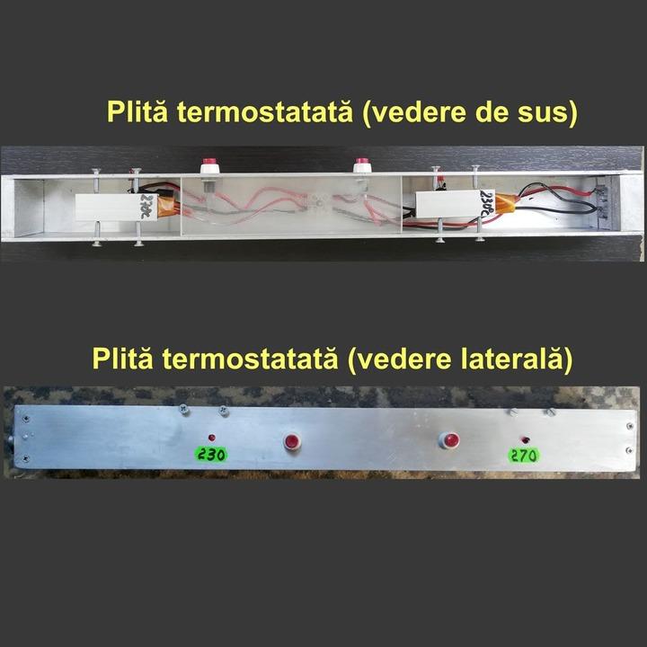Plită termostatată cu 2 PTC