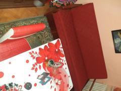 Vand Canapea rosie de 2 persoane rosie si mobila