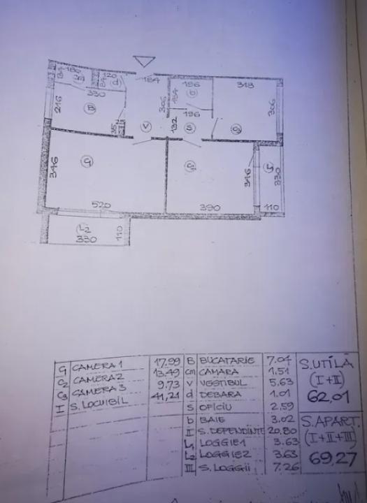 Vând apartament 3 camere decomandat cf 1 - Merita vazut