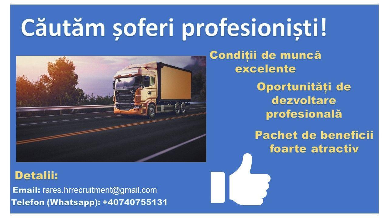 Șoferi profesioniști categoria C+3