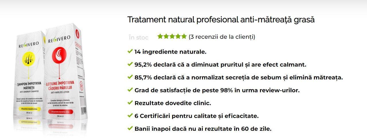 Sampon ingrediente naturale anti matreata