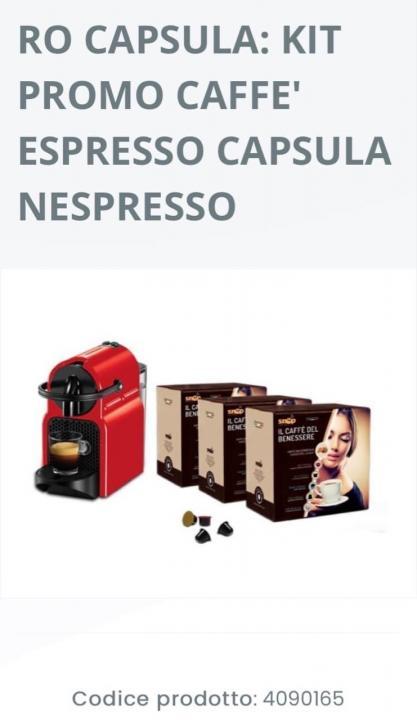 225 capsule cafea+aparat cafea Italia