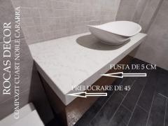 Blaturi de baie din quart compozit