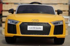 Mașinuta electrica Audi R8 Spyder 2x35W 12V Galben Nou Garantie 2 Ani