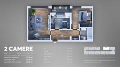 Apartament 2 camere ,decomandat,Postalionului!