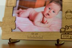 Rama foto lemn nou nascut