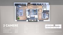 Apartament 2 camere, decomandat, spatios, Berceni,Turnu Magurele.