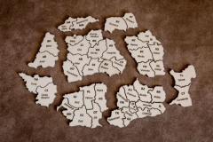 Puzzle lemn - Harta Romaniei