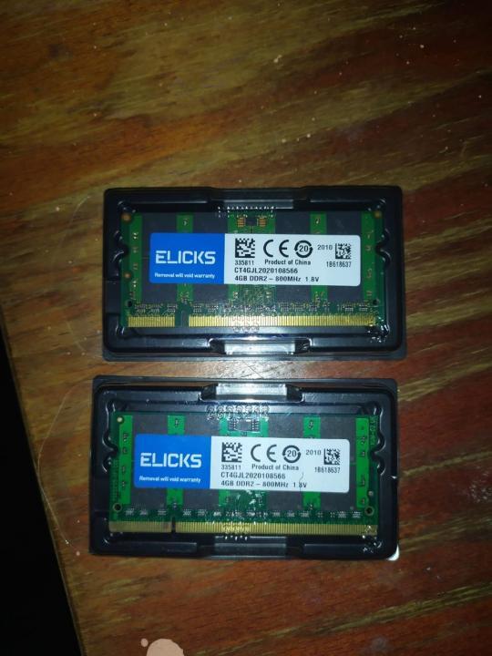 Memorii RAM 4GB Laptop. Kit memorii laptop - DDR2 , 2 x 4GB (8)