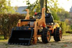 Excavator electric pentru copii BULLDOZER 90W 12V #Galben