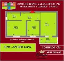 Apartament cu 2 camere, 55 mp, de vanzare in IASI, zona Popas Pacurari, Mutare imediata