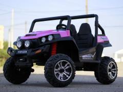 UTV Electric pentru 2 copii Golf-Kart V2 210W 24V Import Germania #Roz