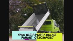 Vand/Transport 3mc Nisip, Piatra, Balast, Pamant Vegetal , Bucuresti, Ilfov