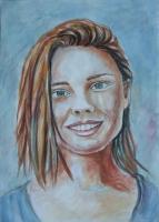 Portrete desen, pictură alb-negru și pictură color