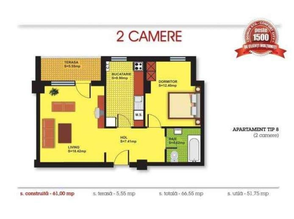 2 camere Confort City