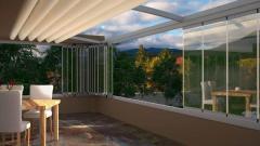 Închideri balcoane si terase din sticla