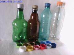 Sticle PET capac cu filet 0,5 L - 1 L si Capace