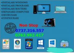 instalez windows hard extern intern/router imprimante curatare pc laptop