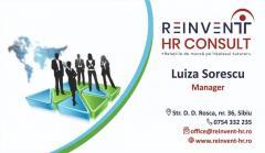 Firma de consultanta in domeniul Resurselor Umane-HR