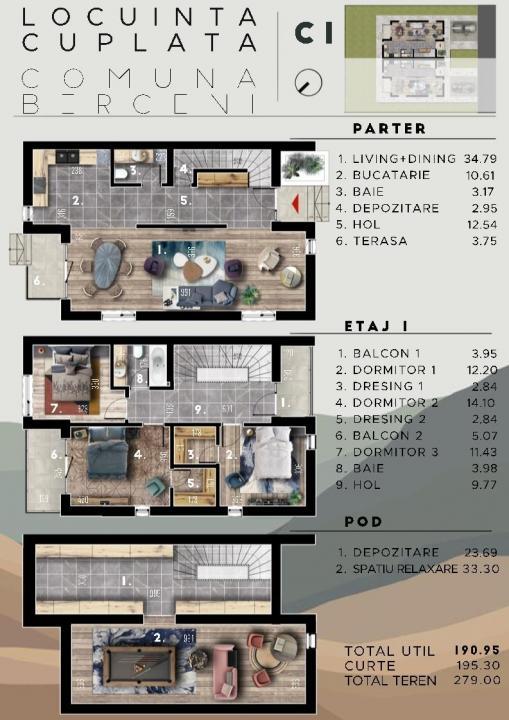 Vila noua 5 camere