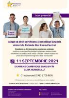 Examen Cambridge English C1 Advanced în Gura Humorului