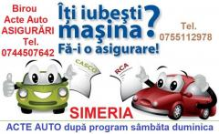 ACTE AUTO contract de vanzare cumparare în Simeria după program sau sâmbăta și duminica