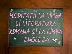 Meditații la limba și literatura română și limba engleză