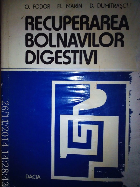 Recuperarea bolnavilor digestivi, O. Fodor, Fl.Marin , 1978