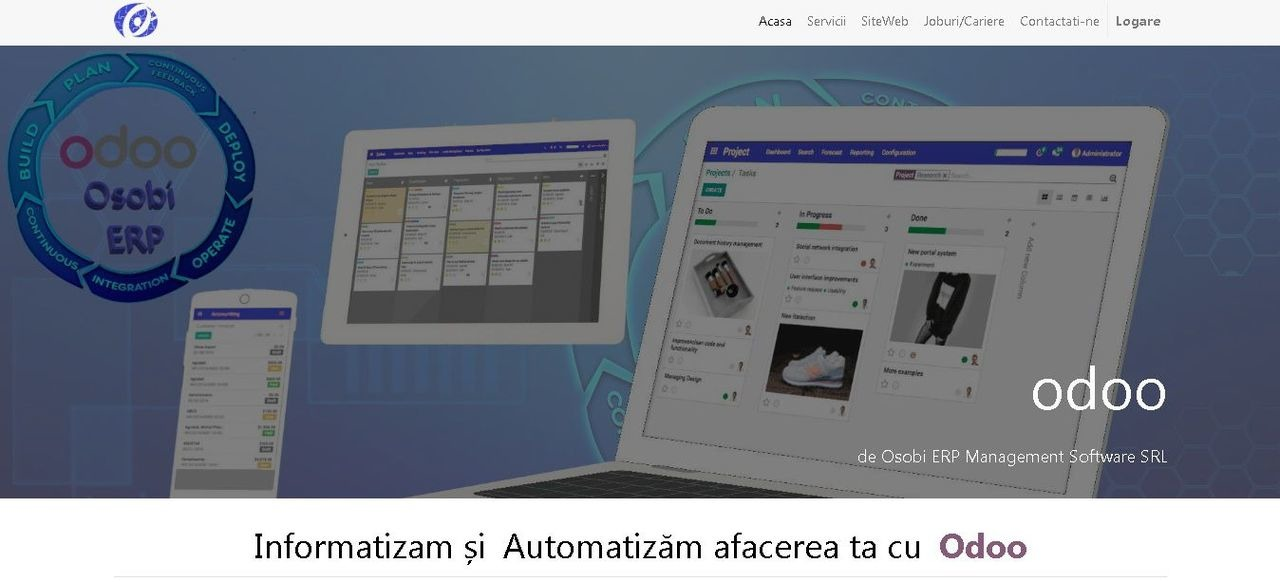 Website, magazin online(e-commerce), sisteme integrate ERP, CRM