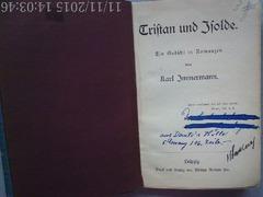 Tristan und Isolde , Immermann, Leipzig , 1882?