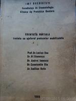 Edentatia partiala tratata cu ajutorul protezelor mobilizabile, Prof. Dr. Ene, 1980